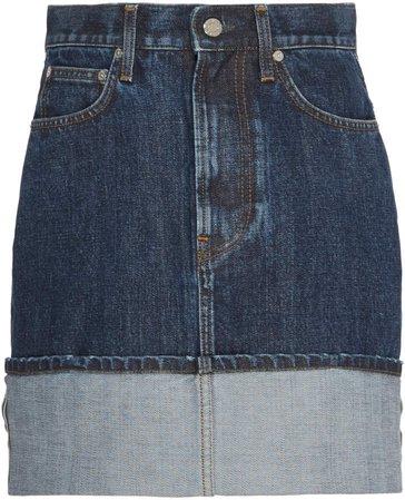 Dark Wash Denim Mini Skirt
