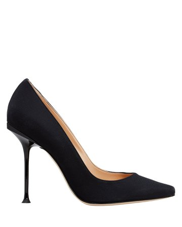 Black Pointed Toe Designer Stiletto Heel Pumps | Sergio Rossi