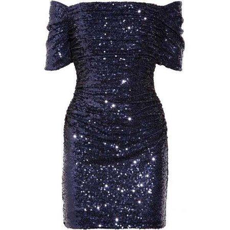 Badgley Mischka Ruched sequined dress ($220)