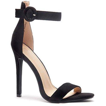 Charming Women's Open Toe Ankle Strap Stiletto Heel Dress