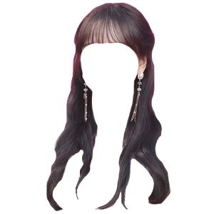 Black Brown Hair Bangs PNG
