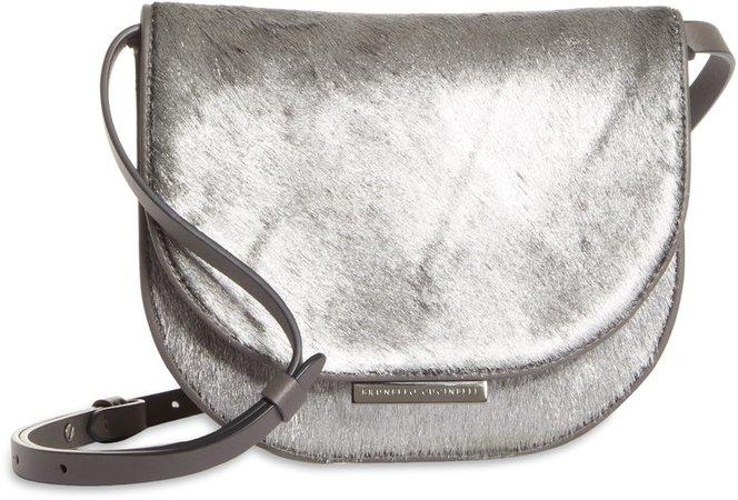 City Moonlight Metallic Genuine Calf Hair Shoulder Bag
