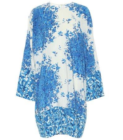 Valentino - Floral silk crêpe de chine minidress | Mytheresa