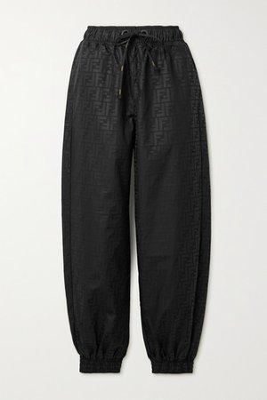 Printed Shell Track Pants - Black