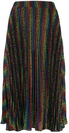 rainbow pleated skirt