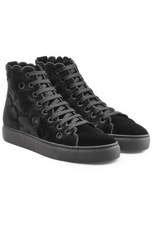 Velvet High-Top Sneakers Gr. IT 40
