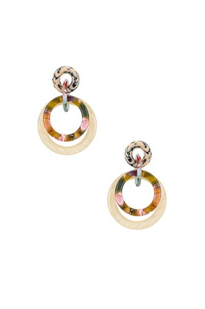 Double Ring Hoop Earring
