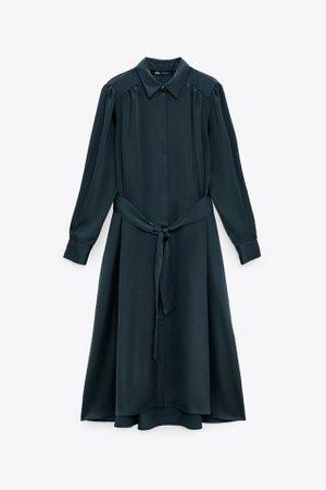 SATIN SHIRT DRESS   ZARA United Kingdom