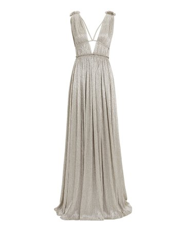 Metallic Grecian Gown