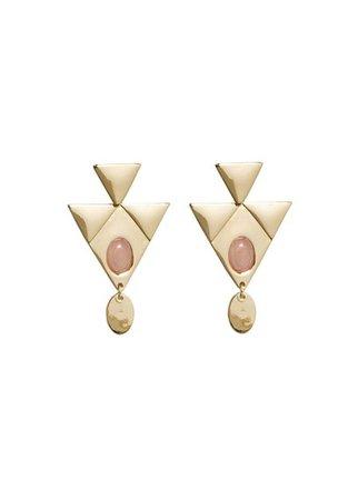 MANGO Stone pendant earrings