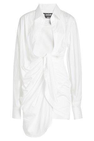 Bahia Knotted Cotton Shirt Dress Gr. FR 34
