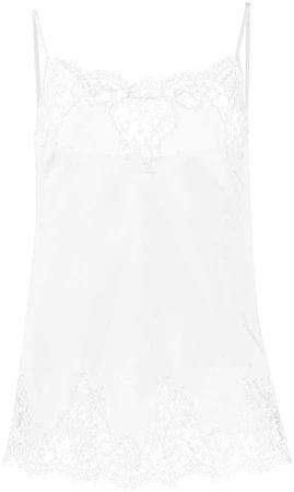 Ermanno Ermanno Silk Lace Camisole Top