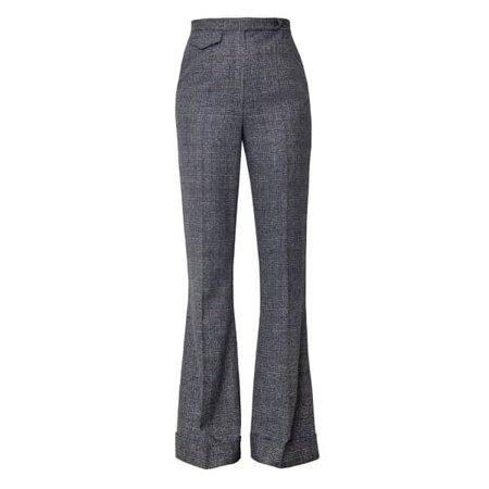 Lisa Flared Trousers In Earl Grey Check | DIANA ARNO | Wolf & Badger