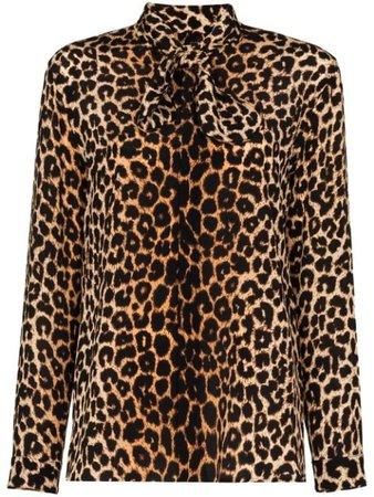 Saint Laurent Leopard Print Blouse - Farfetch