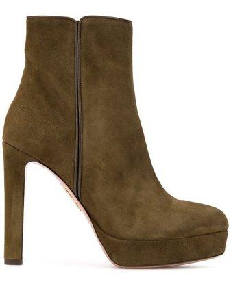 Aquazzura Platform Ankle Boots - Farfetch