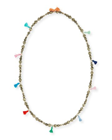 "Hipchik 42"" Bianca Beaded Tassel Necklace"