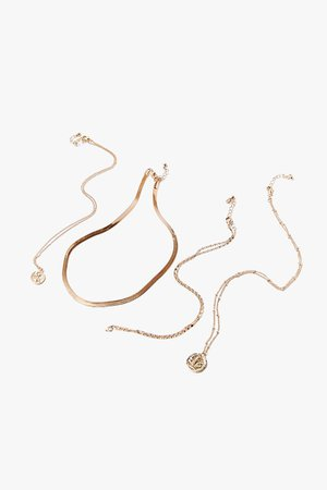 Multi-Chain Pendant Necklace Set | Forever 21