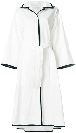 grograin trim robe coat