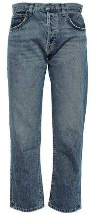 The Original Cropped Mid-rise Straight-leg Jeans