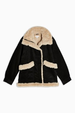 Black Borg Jacket   Topshop