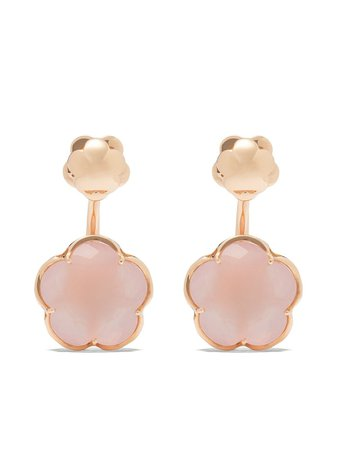 Pasquale Bruni 18kt Rose Gold Quartz Bon Ton Earrings - Farfetch