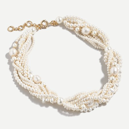 J.Crew: Twisty Pearl Statement Necklace For Women