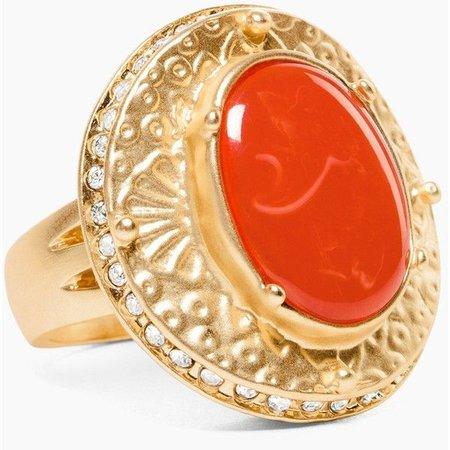 Orange Gold Ring