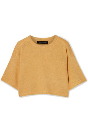 Sally LaPointe | Cropped cashmere and silk-blend sweater | NET-A-PORTER.COM