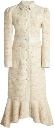 Huishan Zhang Gigi Tweed Midi Dress
