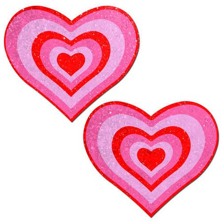 Nipple Pasties: Pastease Heart: Red/Pink Pumping Heart