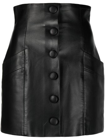 Balmain decorative button detail mini skirt