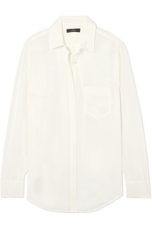 J.Crew | Robin silk crepe de chine shirt | NET-A-PORTER.COM
