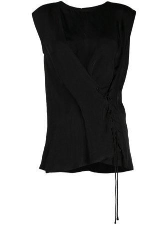 Ann Demeulemeester Tie Detail Blouse - Farfetch