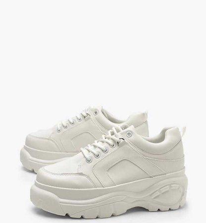 white chunky runners