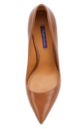 Женские коричневые кожаные туфли RALPH LAUREN — купить за 44850 руб. в интернет-магазине ЦУМ, арт. 800775202