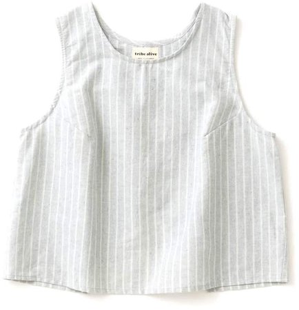 Open Back Tank Stripe