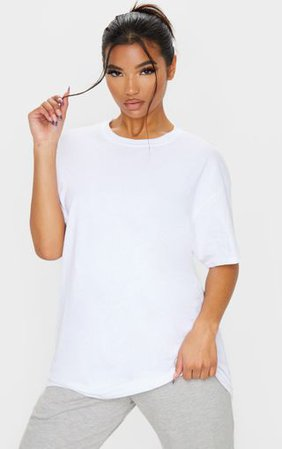 Ultimate White Oversized T Shirt | Tops | PrettyLittleThing