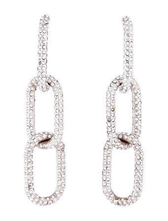 Alexander Wang Crystal Three Link Chain Earrings - Earrings - ALX58218 | The RealReal