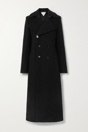 Black Double-breasted wool-gabardine coat | Alaïa | NET-A-PORTER