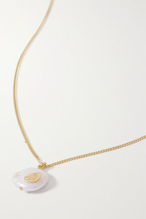 Gold Gold-plated pearl necklace | Chan Luu | NET-A-PORTER