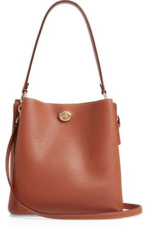 COACH Charlie Leather Bucket Bag | Nordstrom