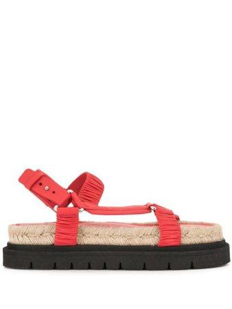 3.1 Phillip Lim ruched flatform sandals red SSE1T753VNP - Farfetch