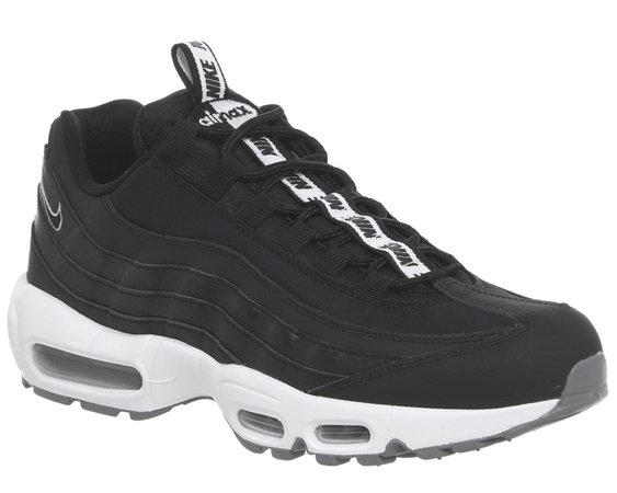 Nike Air Max 95 Trainers Black Black White Cool Grey