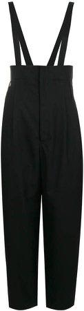 high waist dungaree trousers
