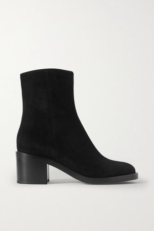 60 Suede Ankle Boots - Black