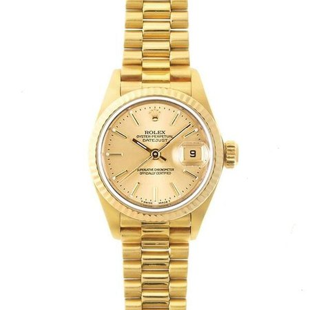 Pre-Owned-Rolex-Womens-President-Gold-Champagne-Dial-Watch
