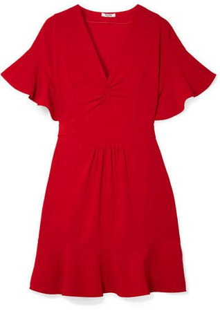 Ruffled Cady Dress - Red