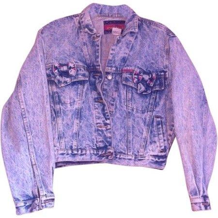 """Purple Rain"" acid wash purple denim jacket"