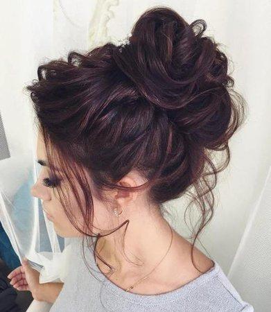 4 Curly Messy Bun Long Hair - Love Hairstyles - Love Hairstyles