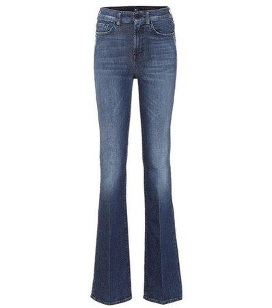 Lisha high-rise flared jeans